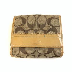 Coach Womens Wallet Bifold Button Shut Small